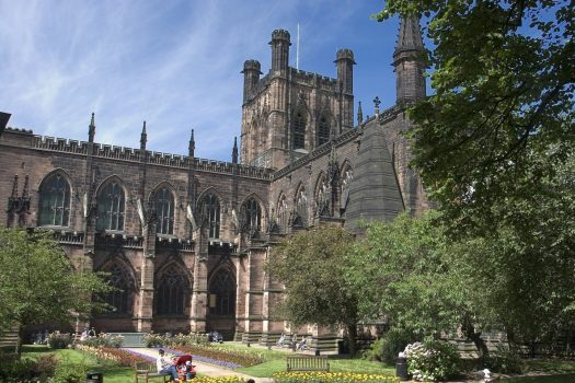Chester Cathedral and gardens