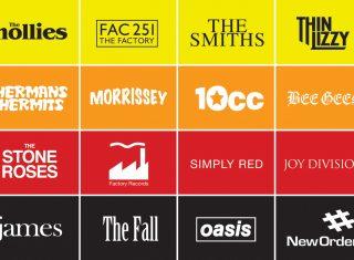 Manchester Music Bands logos
