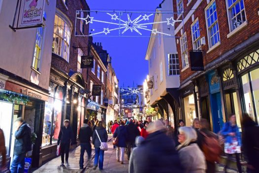 York Christmas 2016 - Stonegate street lights © Visit York
