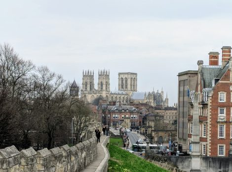York, Yorkshire - View of the Minster and town