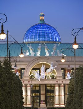 great hall entrance at dusk ©The Intu Trafford Centre